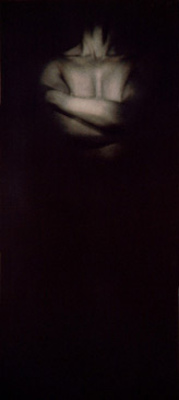 PENNY MAILANDER, WAYNE #3, 1996   OIL PAINTED/SILVER GELATIN