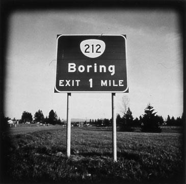BORING, OREGON 1996   TONED SILVER GELATIN