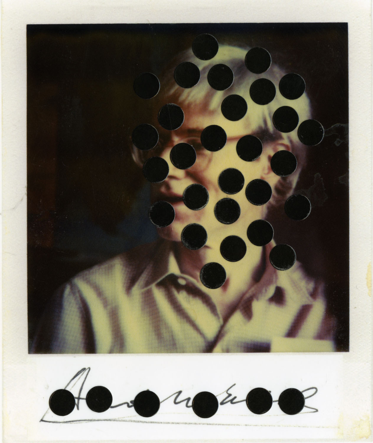 MARK SINK  ANDY AND DOTS SIGNED, 1982  ARCHIVAL PIGMENT PRINT