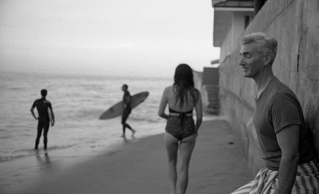 BRIAN WITH EYES CLOSED WITH KIM AT SUNSET, MIRAMER BEACH, MONTECITO, CA, 2017  ARCHIVAL PIGMENT PRINT
