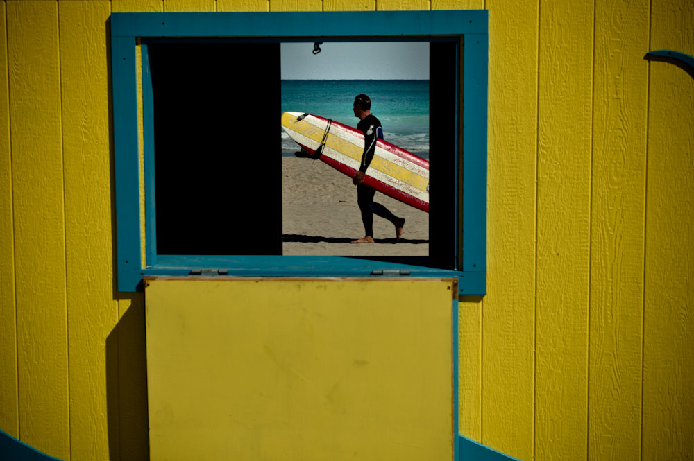 DAVID SAXE SURFER, HOLLYWOOD BEACH, 2010   ARCHIVAL PIGMENT PRINT