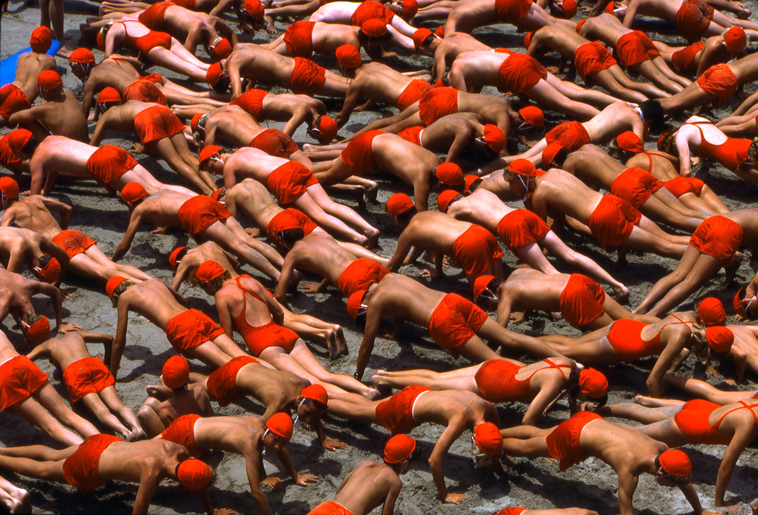 ROGER CAMP  RED PUSHUPS  HP ARCHIVAL PRINT