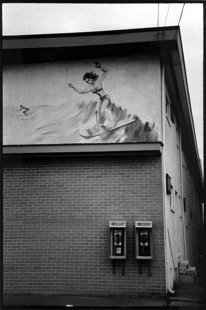 TED ADAMS SURF,  PHILADELPHIA AREA, 1988 GELATIN SILVER PRINT