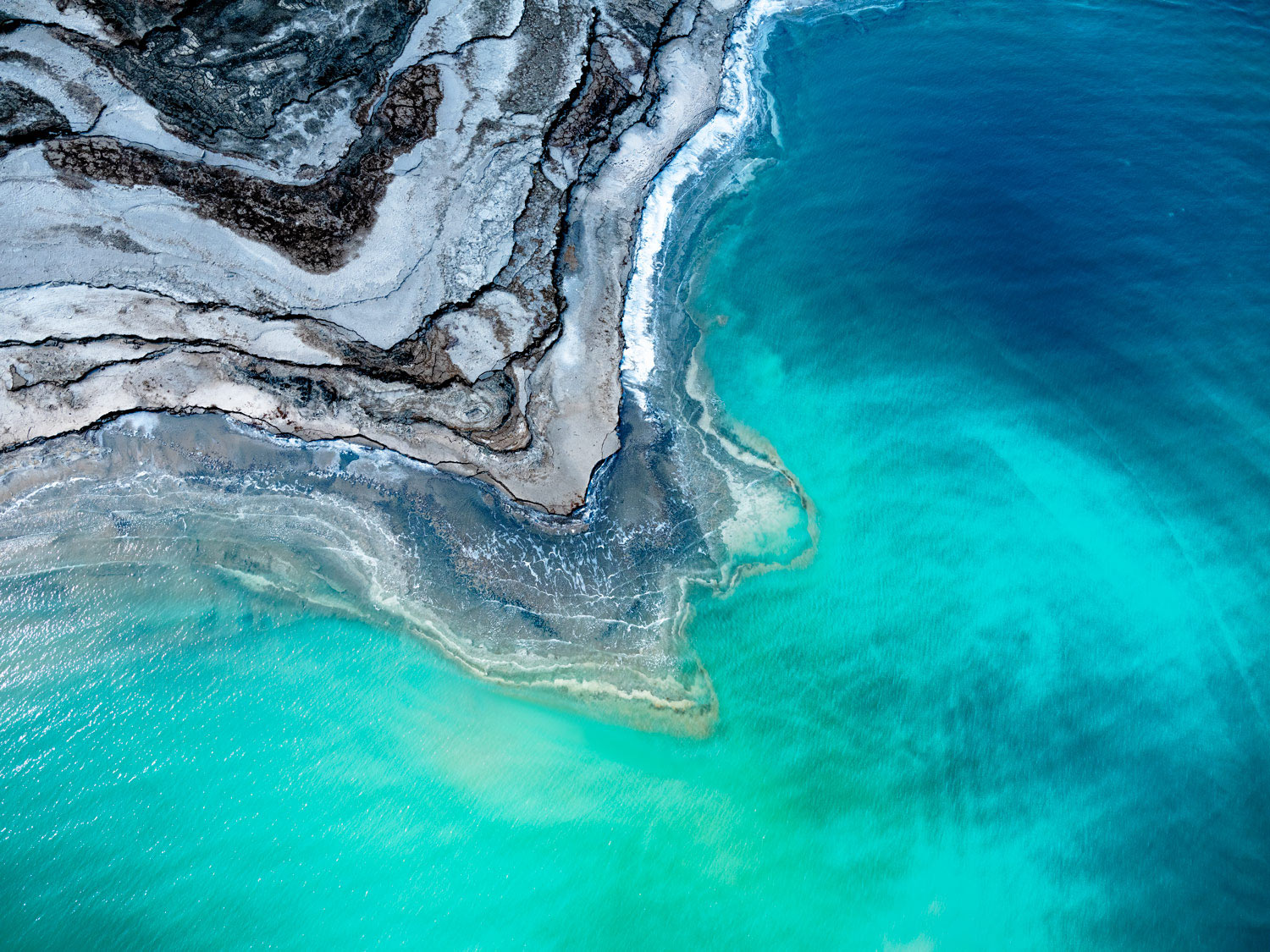 LAYERS IN LIFE DEAD SEA, ISRAEL, 2019  DYE SUBLIMATION