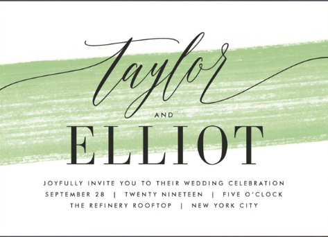 10. Invitations with a Pop of Green