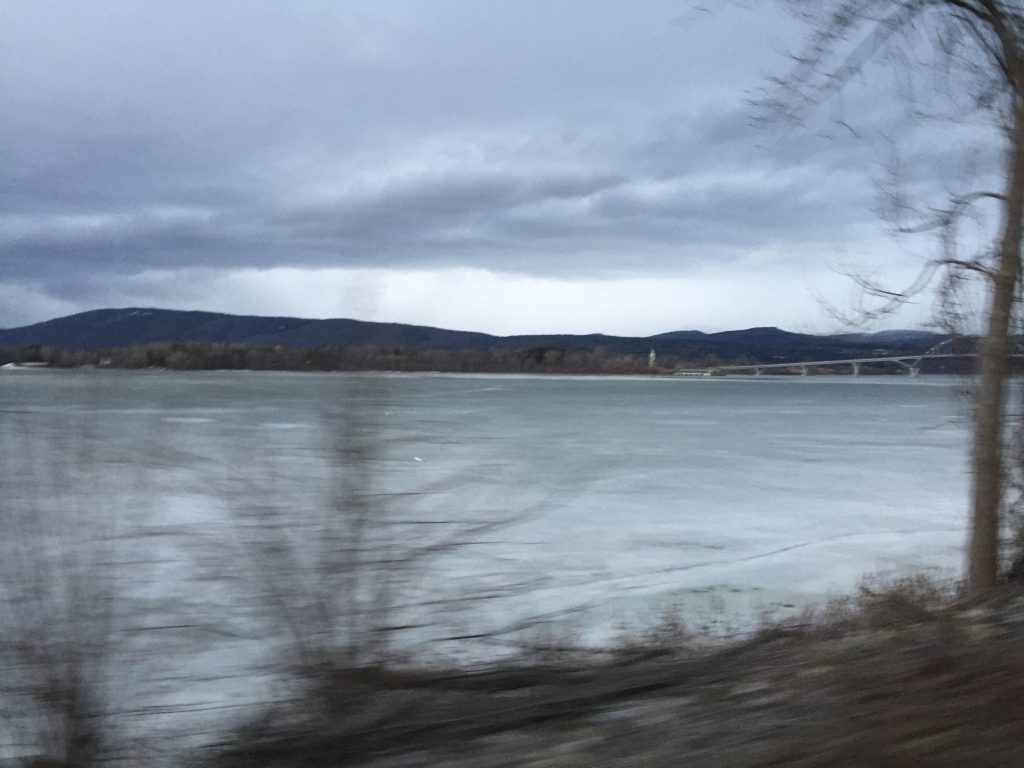 After 25 hours in Saranac Lake we racing the storm back to NH.