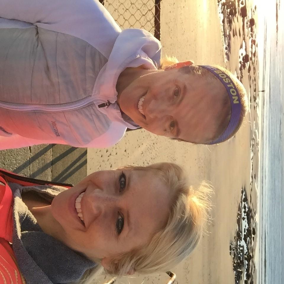 Organic Runner Mom and Run Far Girl before Eastern States 2016