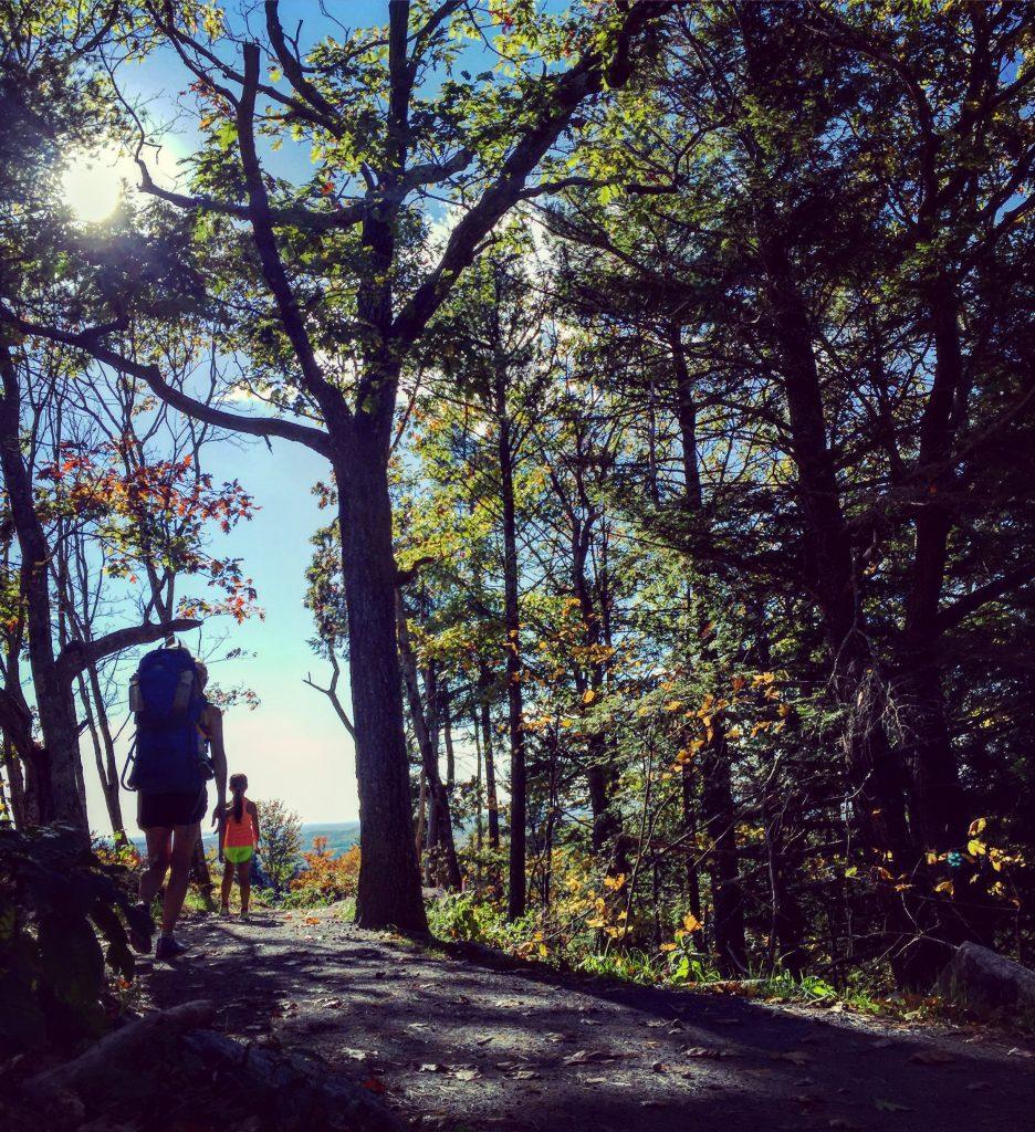 I got my fall foliage fix hiking with my kids.
