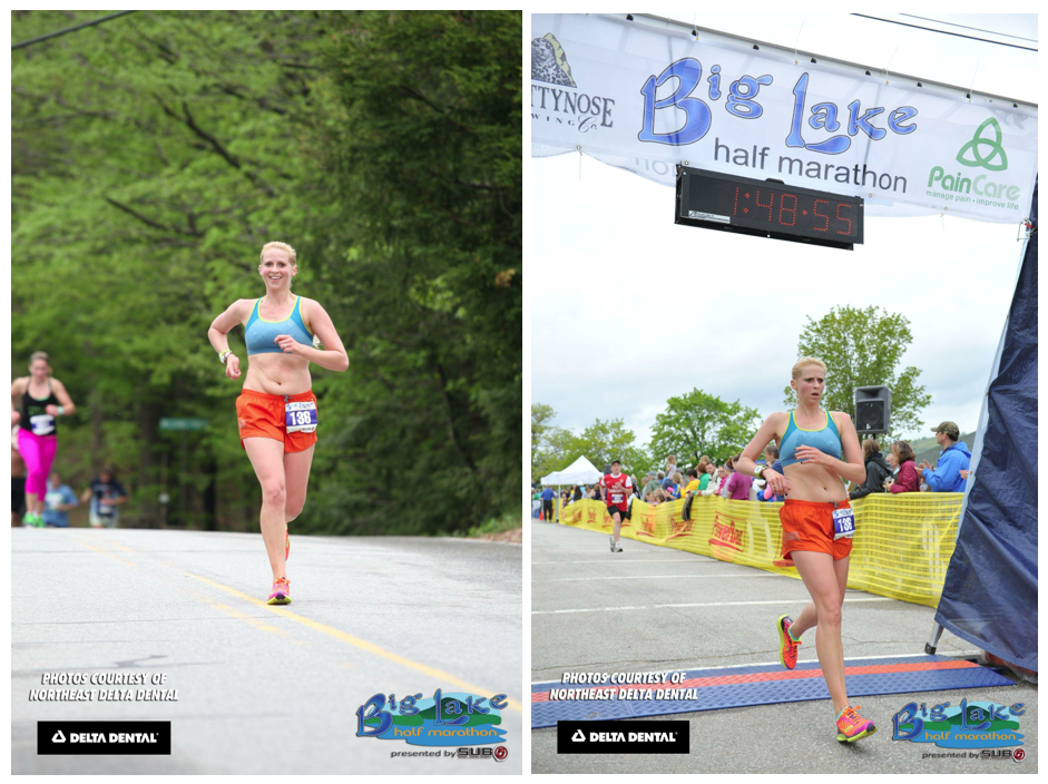Last week I had nothing but critique for my body as pictured in these photos. Not the feeling I had on race day. On race day I felt confident and strong, proud of my body even.