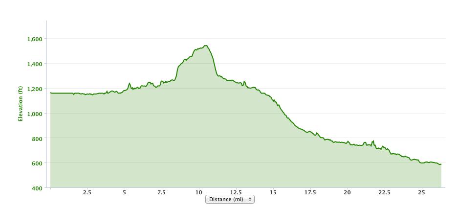 Course elevation according to my Garmin.