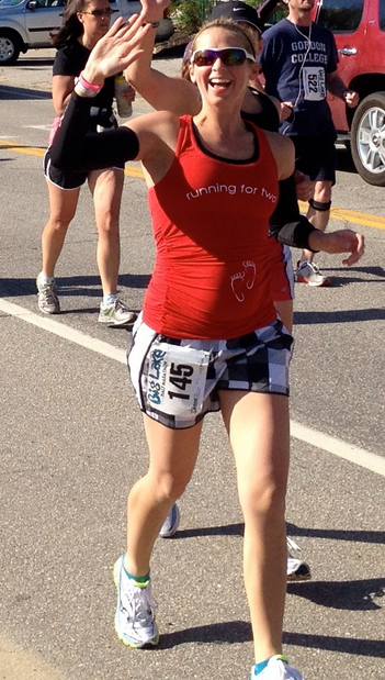 6 months pregnant and running the Big Lake Half Marathon. I leaked for most of the race, stopped to pee twice and was generally uncomfortable.