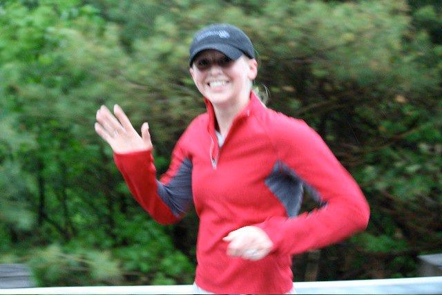 My first race (BIg Lake Half Marathon, NH) after having my daughter, Sophia (now 4).