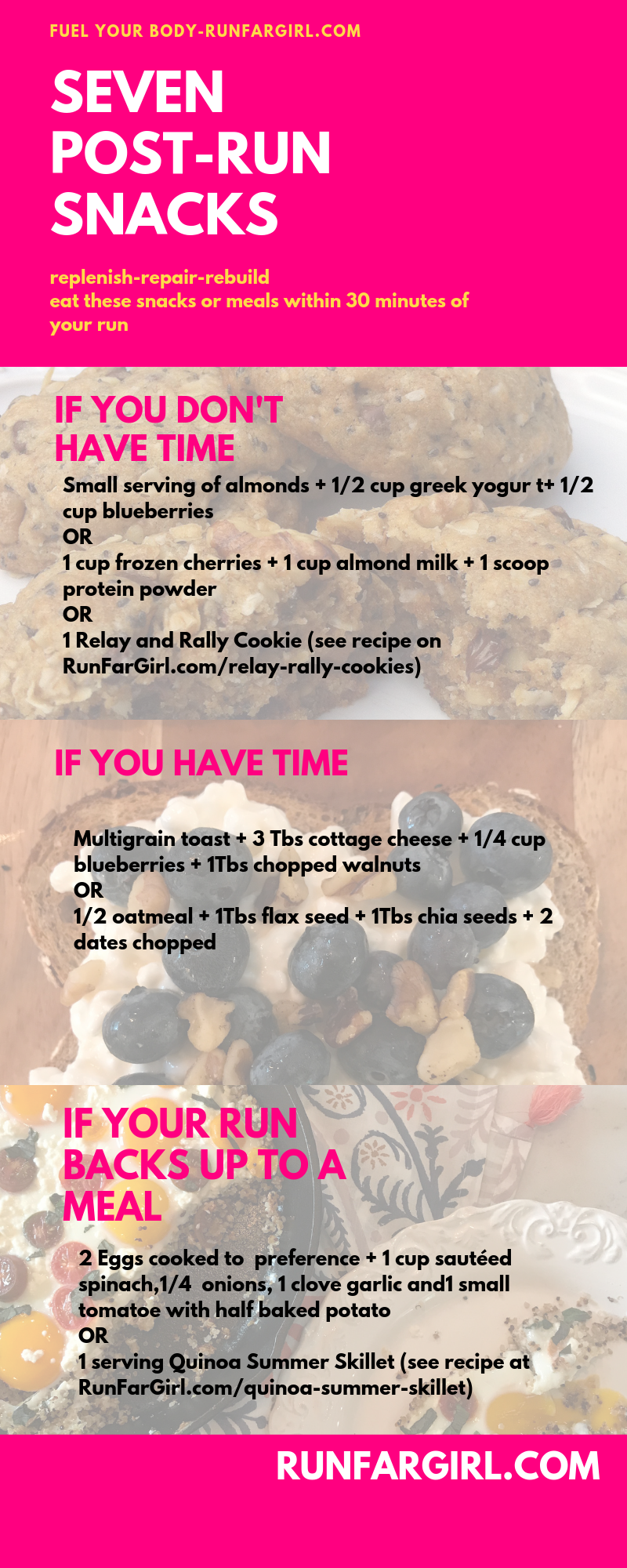 Nutrient dense post-run snack ideas from runfargirl