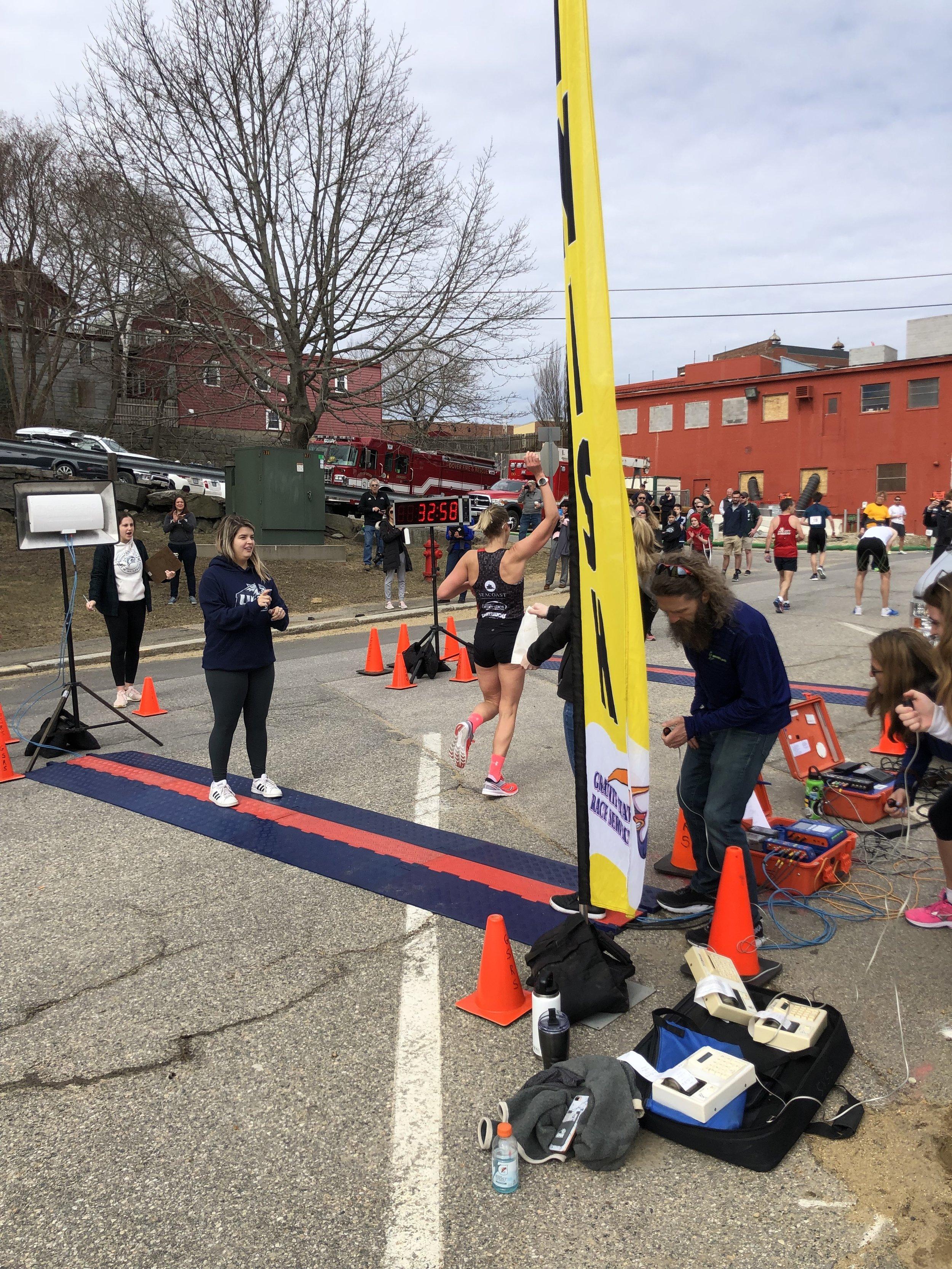 Red's Race 2019 Finish Line Run Far Girl