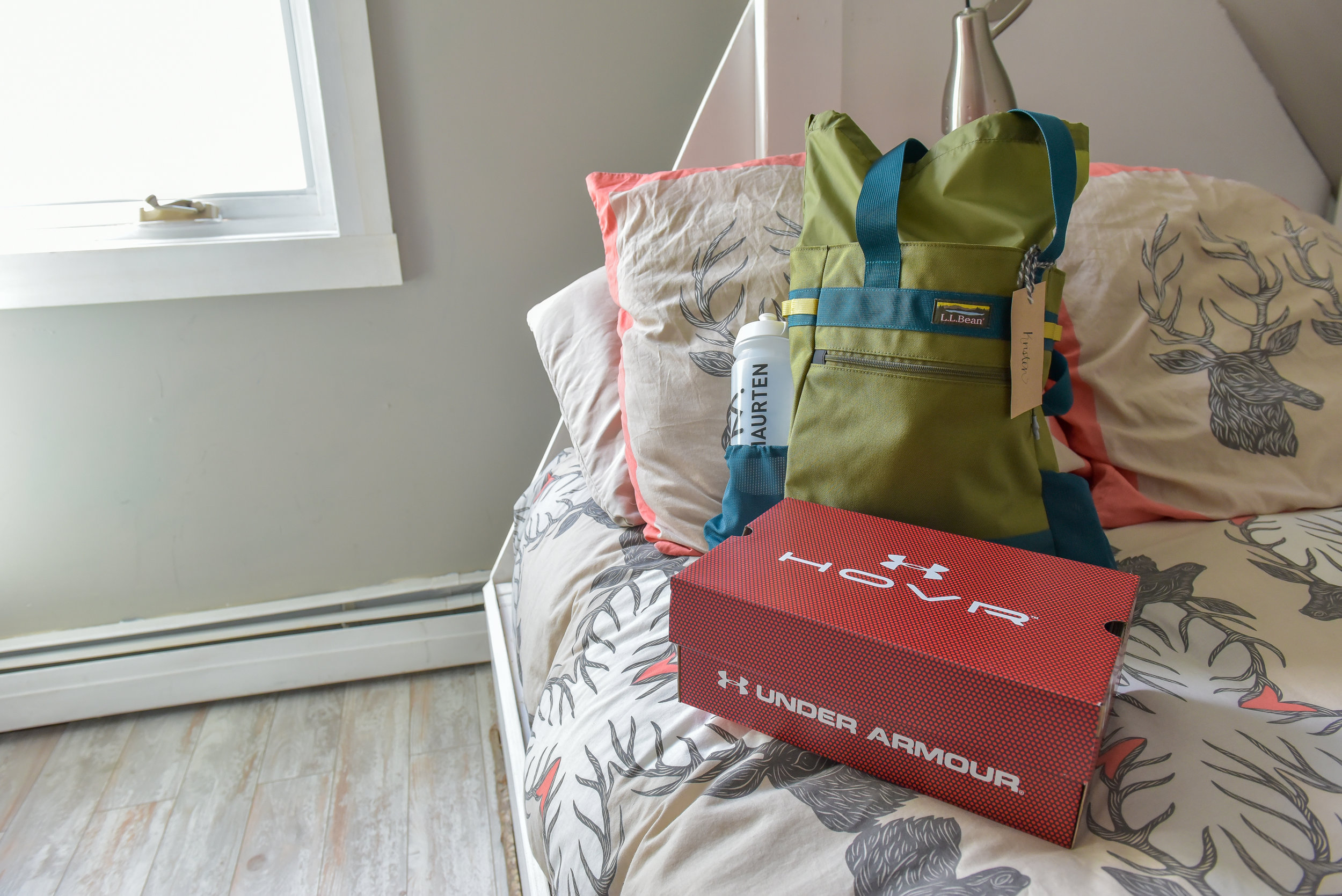LL Bean swag bags with shoes for each participant from Under Armour. Photo Credit  Joe Viger