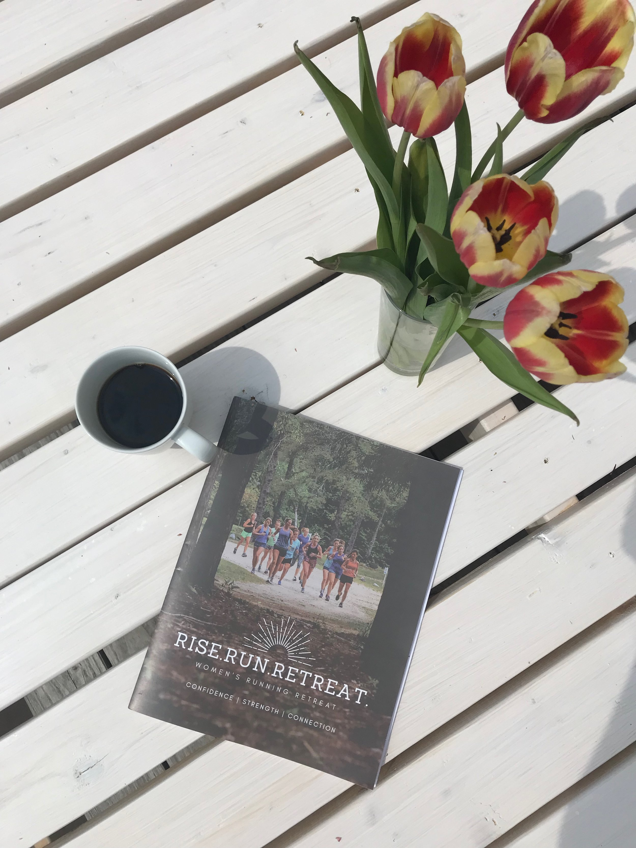 2019 Rise.Run.Retreat. journal written by founder and host, Sarah Canney