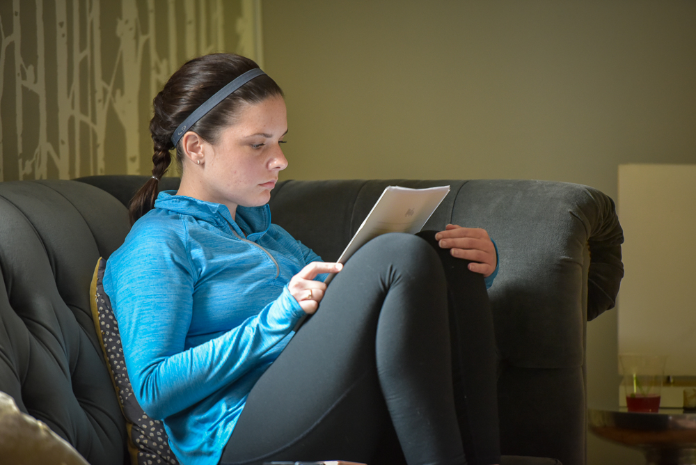 Taking a quiet moment to journal. Photo Credit  Joe Viger