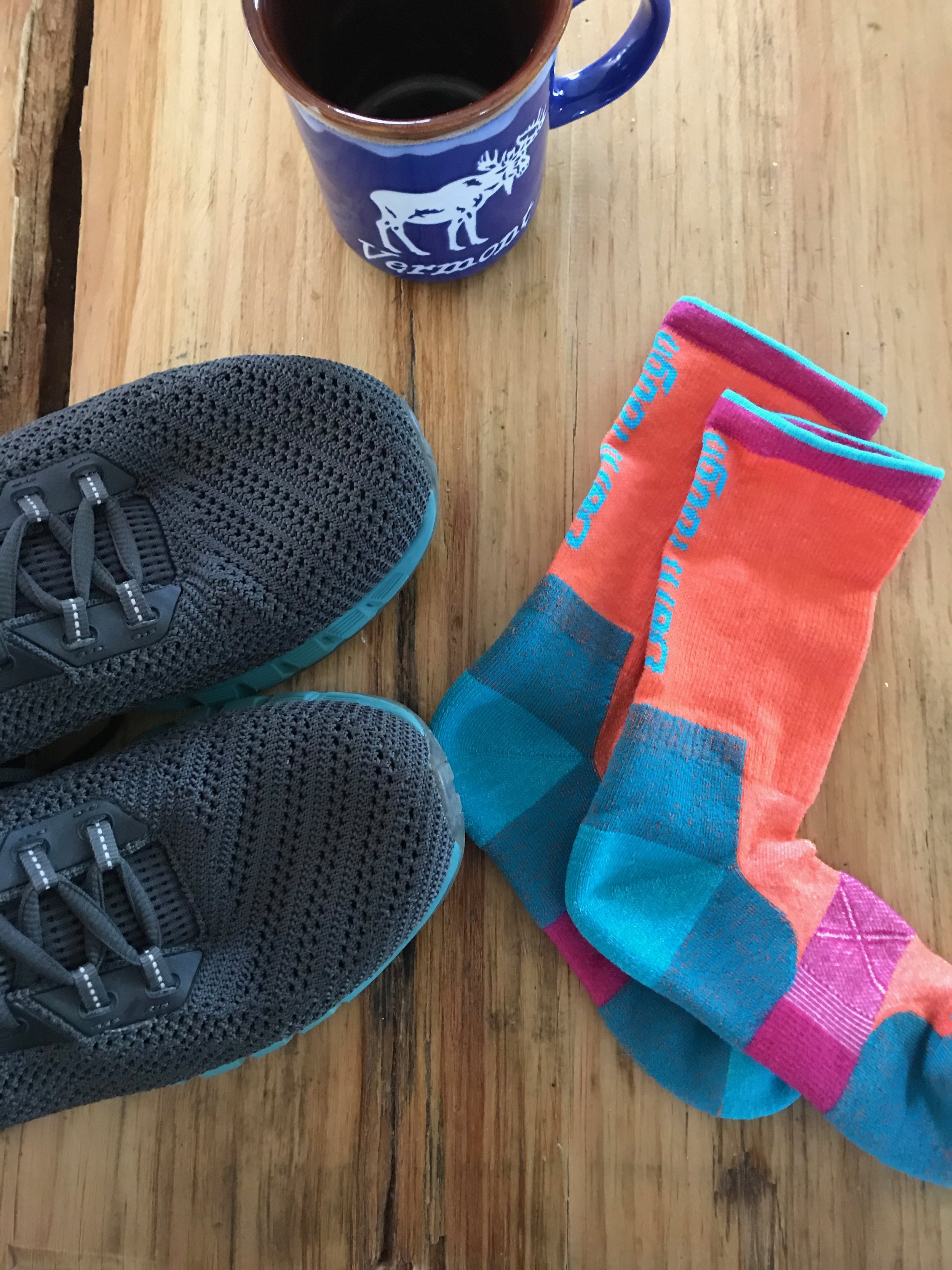 Running in Vermont wouldn't be complete without  Darn Tough  socks!