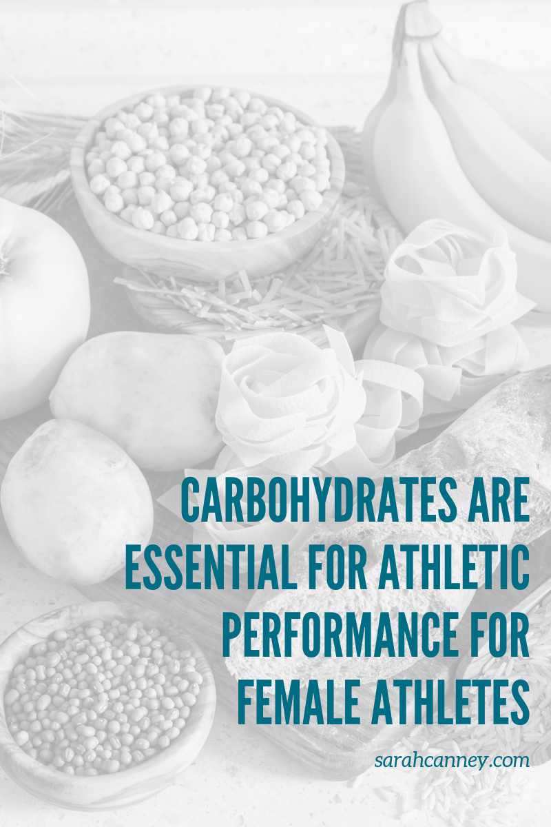 Carbohydrates are essential to athletic performance in female athletes