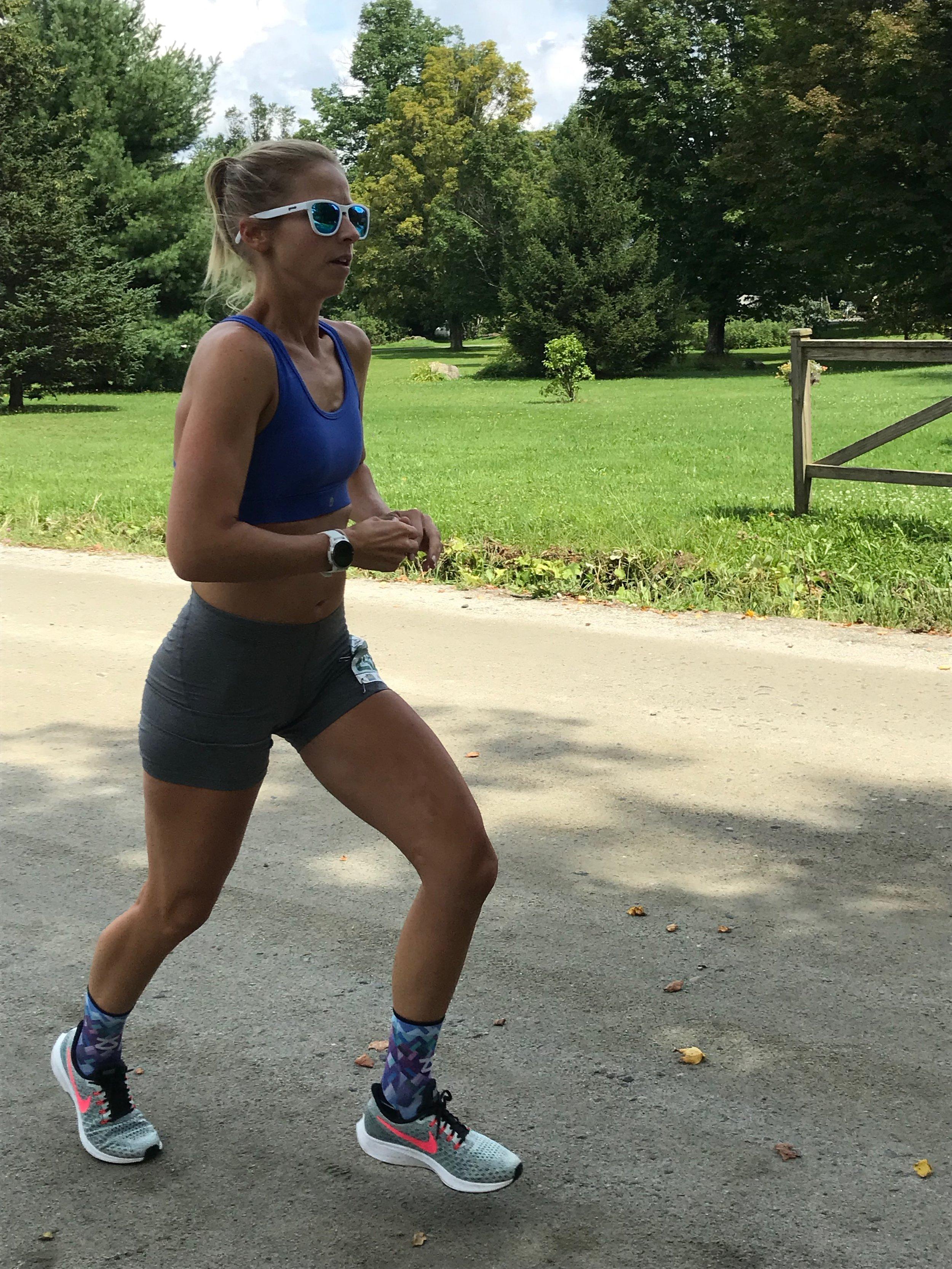 Sarah Canney runs Vermont 100on100