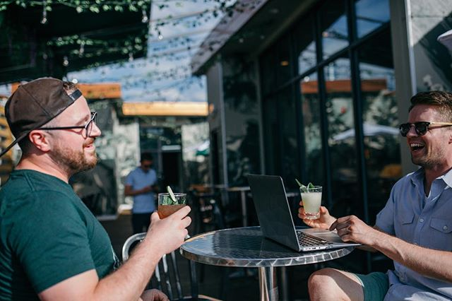 Take your afternoon meetings at Bonded, because our patio   your office, any day. . . . . #rooftoppatio #patioweather #summervibes #offsite #workfromabar #cocktails