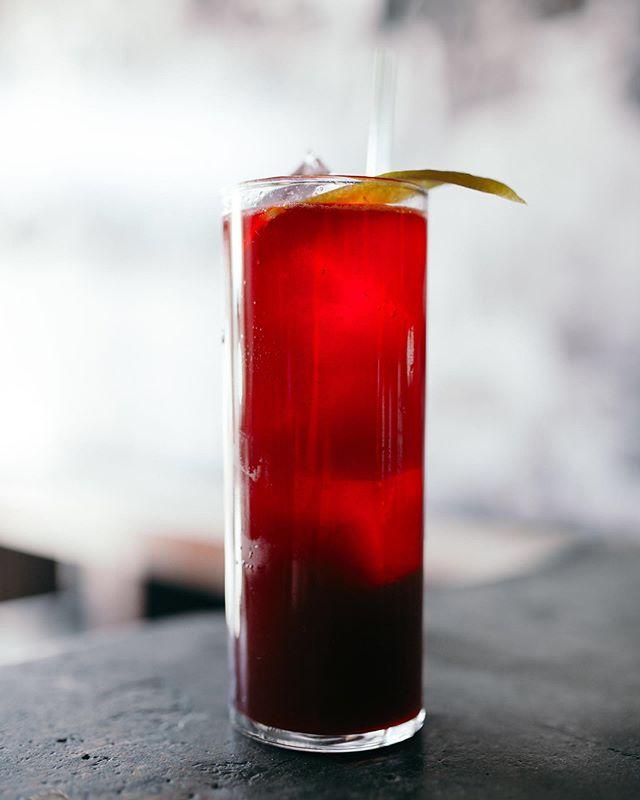 "Meet this tall, dark, and handsome cocktail, ""Dark Ocean"". Made with Vida Mezcal, beet shrub, Punt e Més, & lemon. . . . #talldarkandhandsome #darkocean #cocktails #denvercocktails #mezcal"
