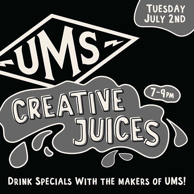 Creative Juices, a special industry night dedicated to serving Denver's most creative individuals, returns next week! Tuesday, June 2nd - Join us for a night of drinks and fun with the team behind @theums , Denver's longest running Music Festival! . . #ums #creativejuices #happyhour #industrynight #fashion #interactivefashion #denverart #rinoartdistrict