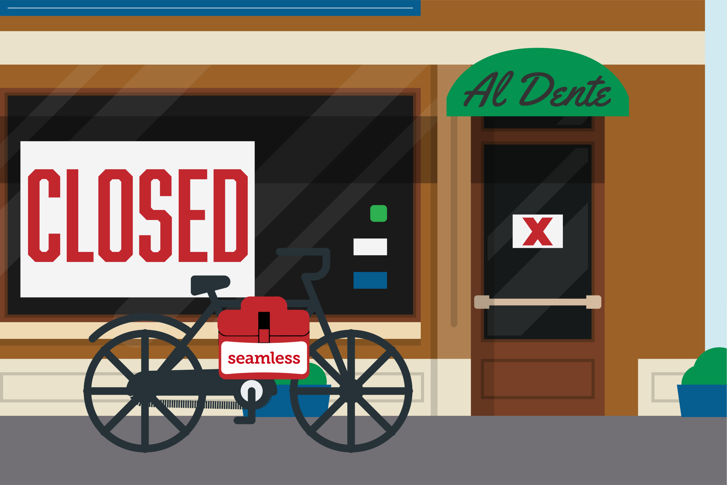 The sudden surge in popularity for delivery companies like Grubhub and Seamless has acted as a death sentence for some local New York businesses. (Chase Manze)