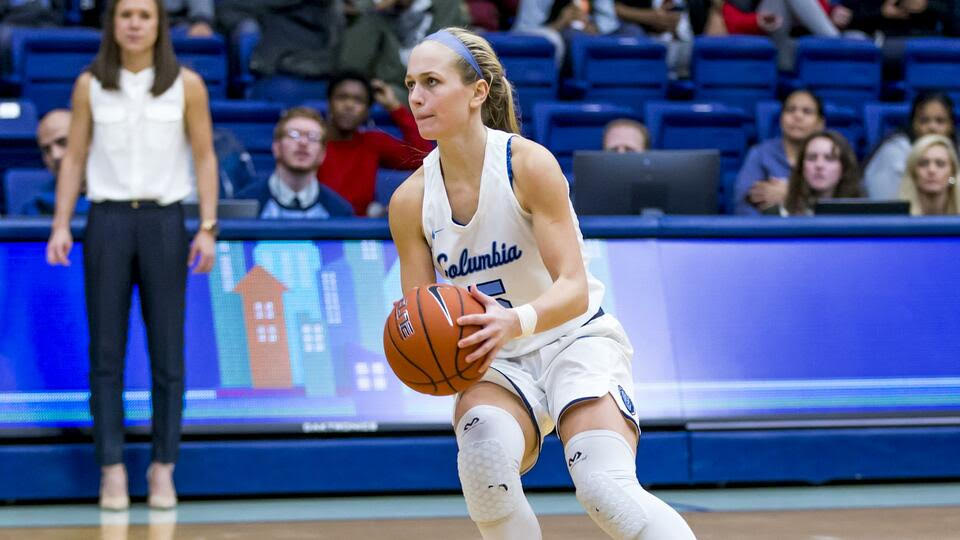 Sophomore Riley Casey currently leads the Lions in three-point makes, having scored 54 shots from beyond the arc thus far this season. (Photo courtesy of Go Columbia Lions)