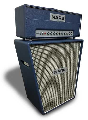 """Special design cabinets deliver classic British tone. - The NARB Lead 50 pairs perfectly with any of our specially design cabinets. Featuring custom voiced speakers modeled after the Celestion """"Pulsonic"""" speakers found in 60's and 70's era British amps."""