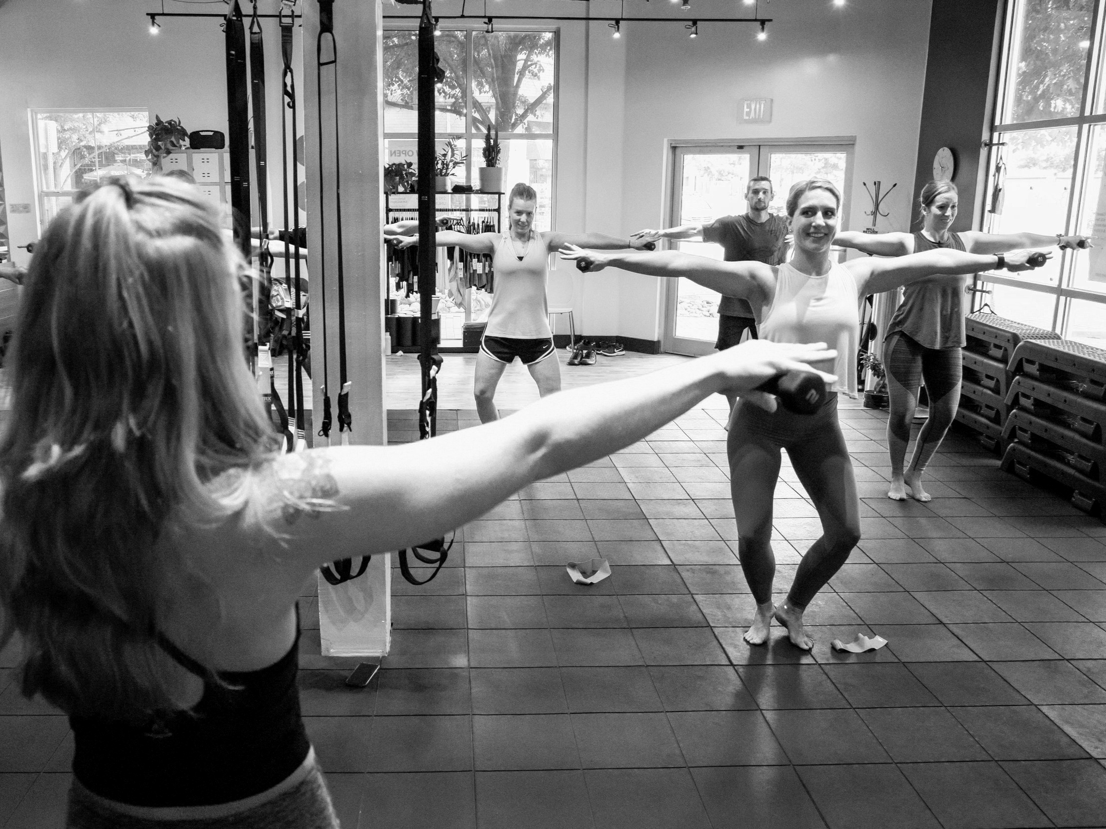 Barre - Barre is low weight super high rep to burn out your endurance muscles, it's great low impact training to help you get toned, and also a great method to help you train for things like marathons/races, or even weight lifting as your endurance muscle fibers will kick in to help push you farther.