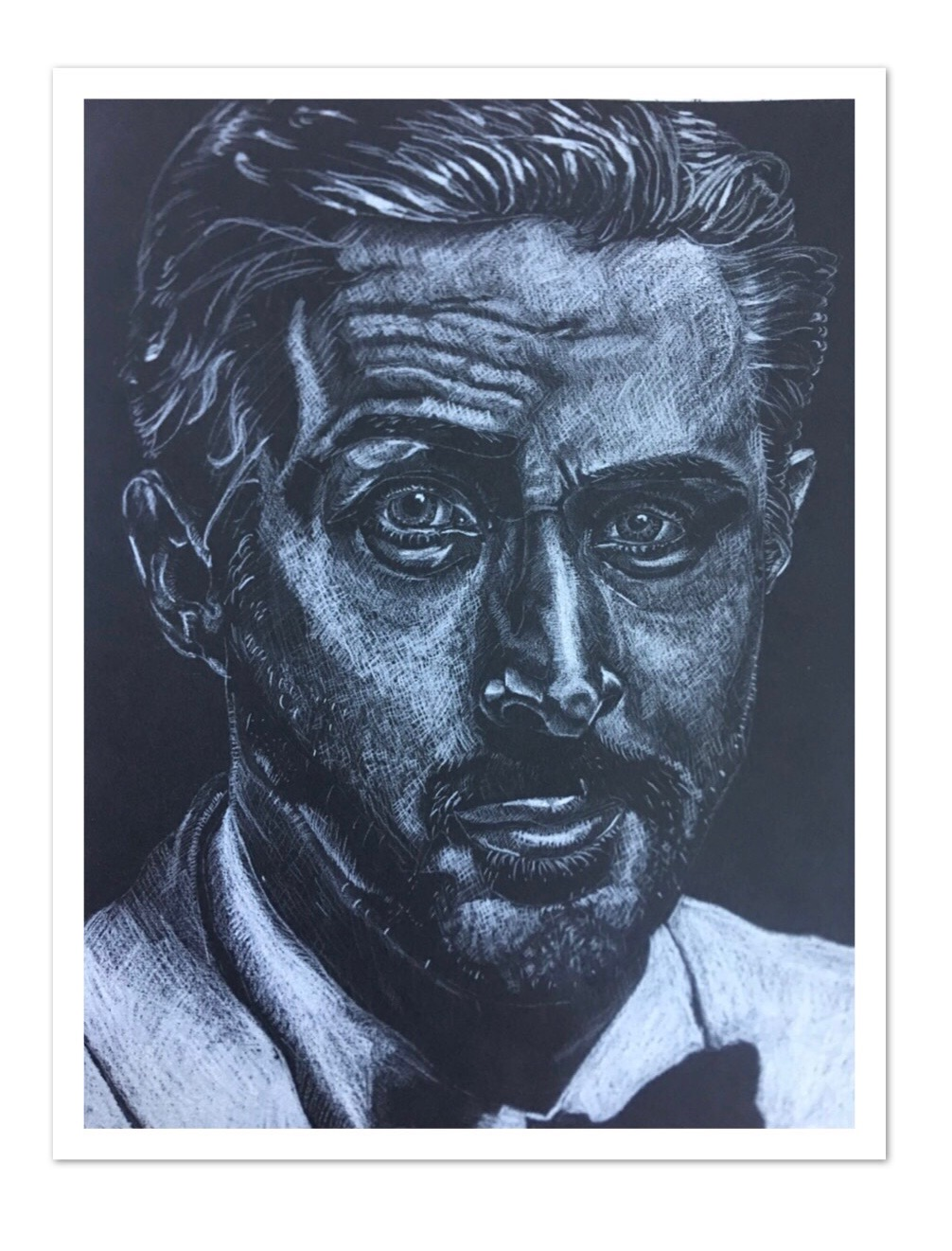 ART BY JOE! - He drew this portrait of Ryan Gosling!