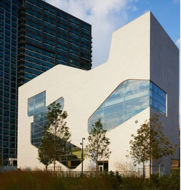 The new Hunters Point Community Library in New York City.