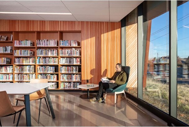 Norman OK Public Library, Adult Reading Area. Source: American Libraries, September/October 2019