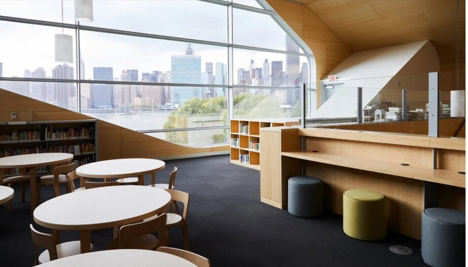 NY Times: New Hunters Point Branch Library