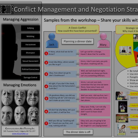 Conflict Management & Negotiation Strategies - Knowing how to navigate difficult situations can be a life-saver – at work and at home.