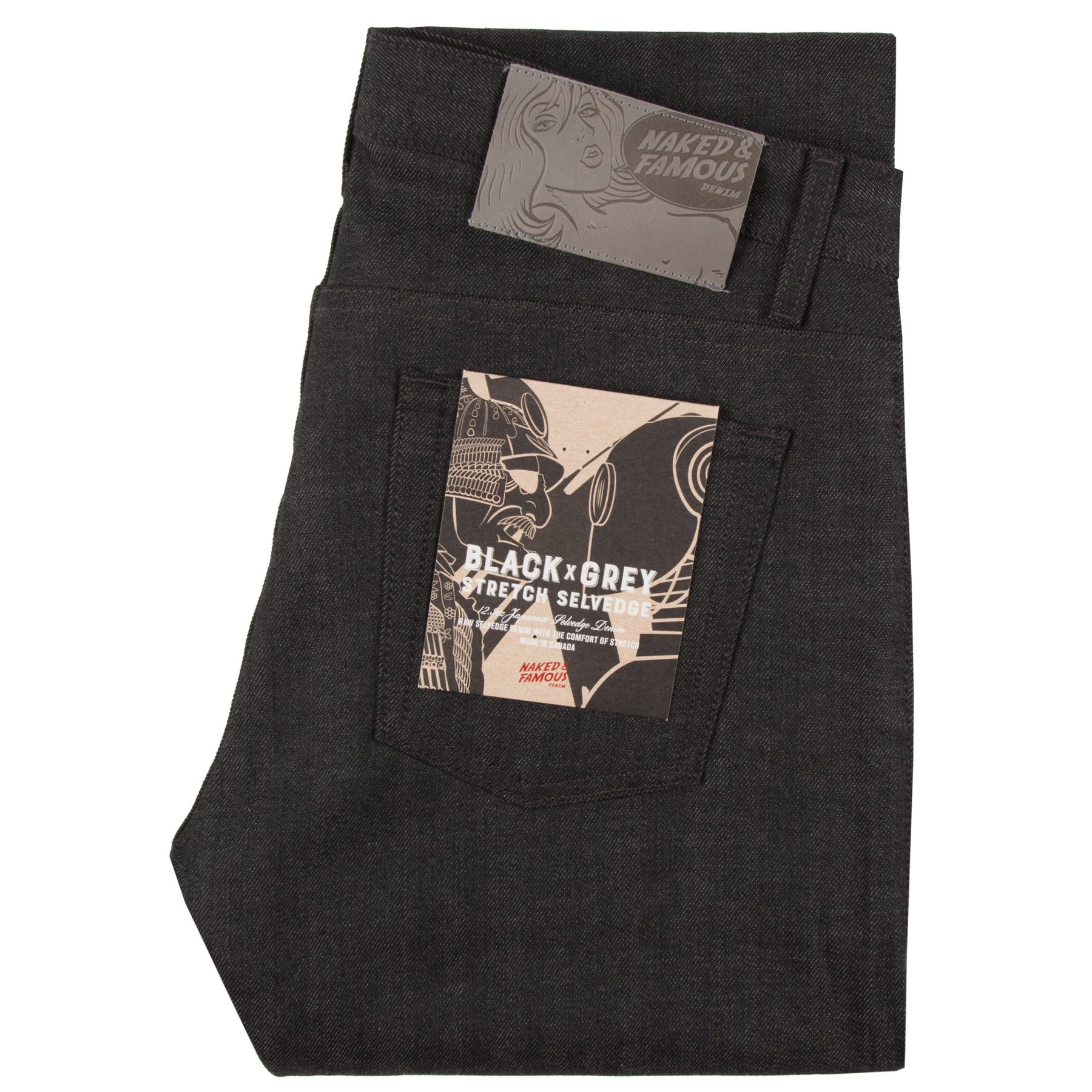 black x grey stretch selvedge - Super Guy / Weird Guy / Easy Guy