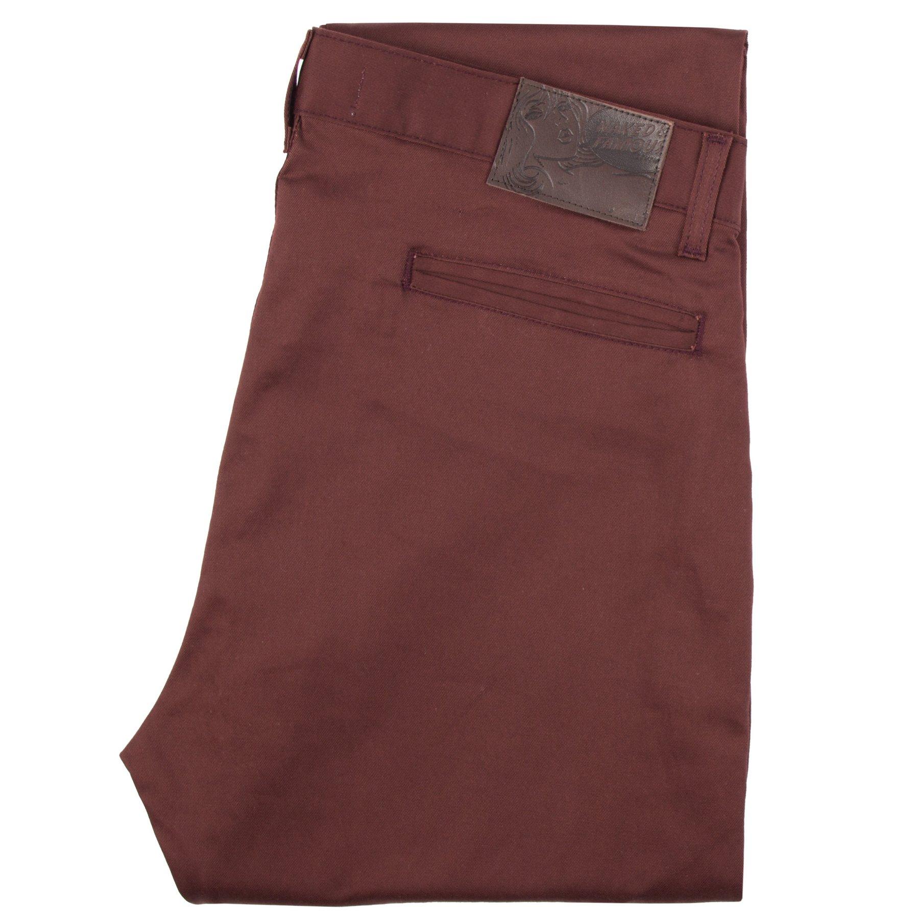 burgundy stretch twill - Slim Chino