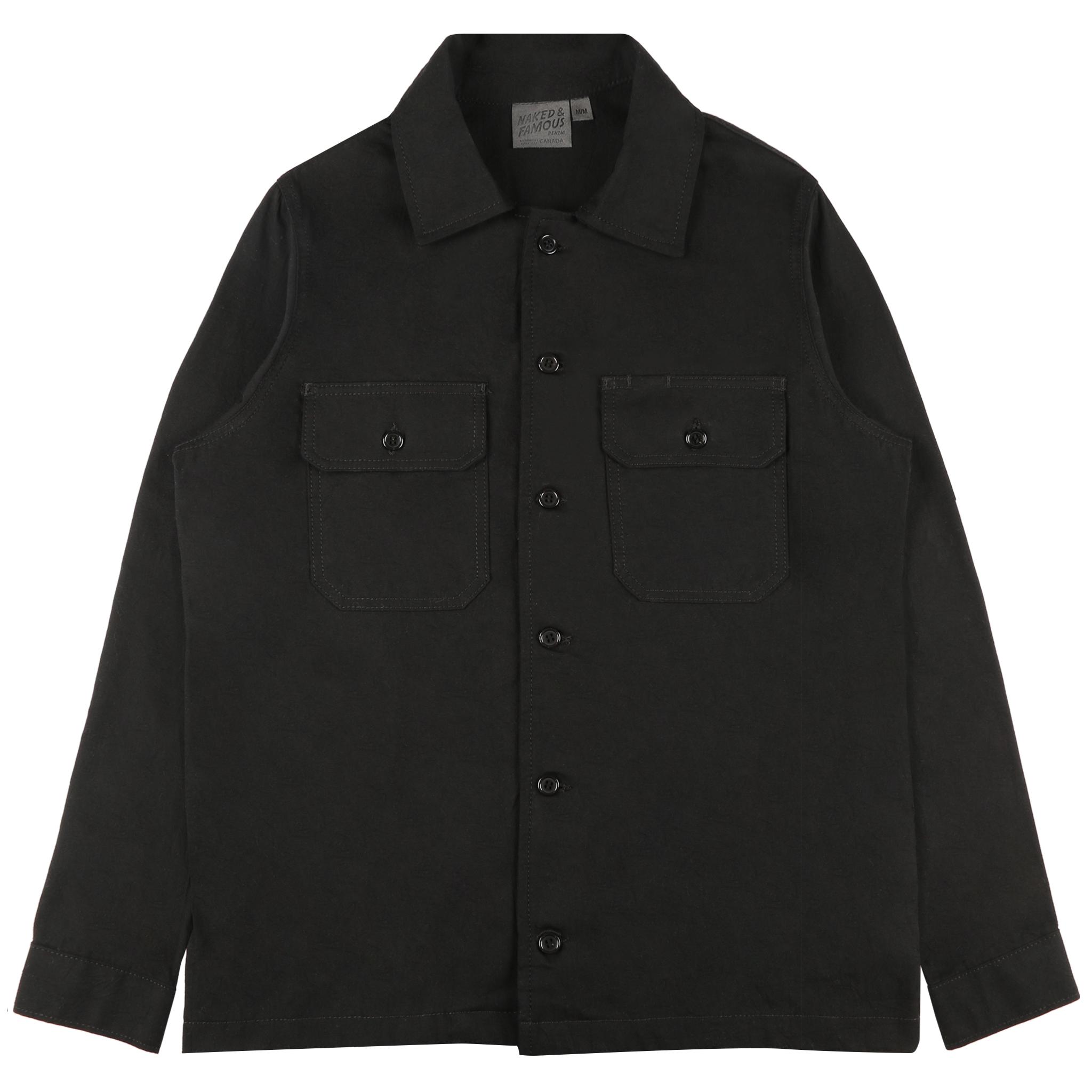 BLACK RINSED OXFORD - Workshirt