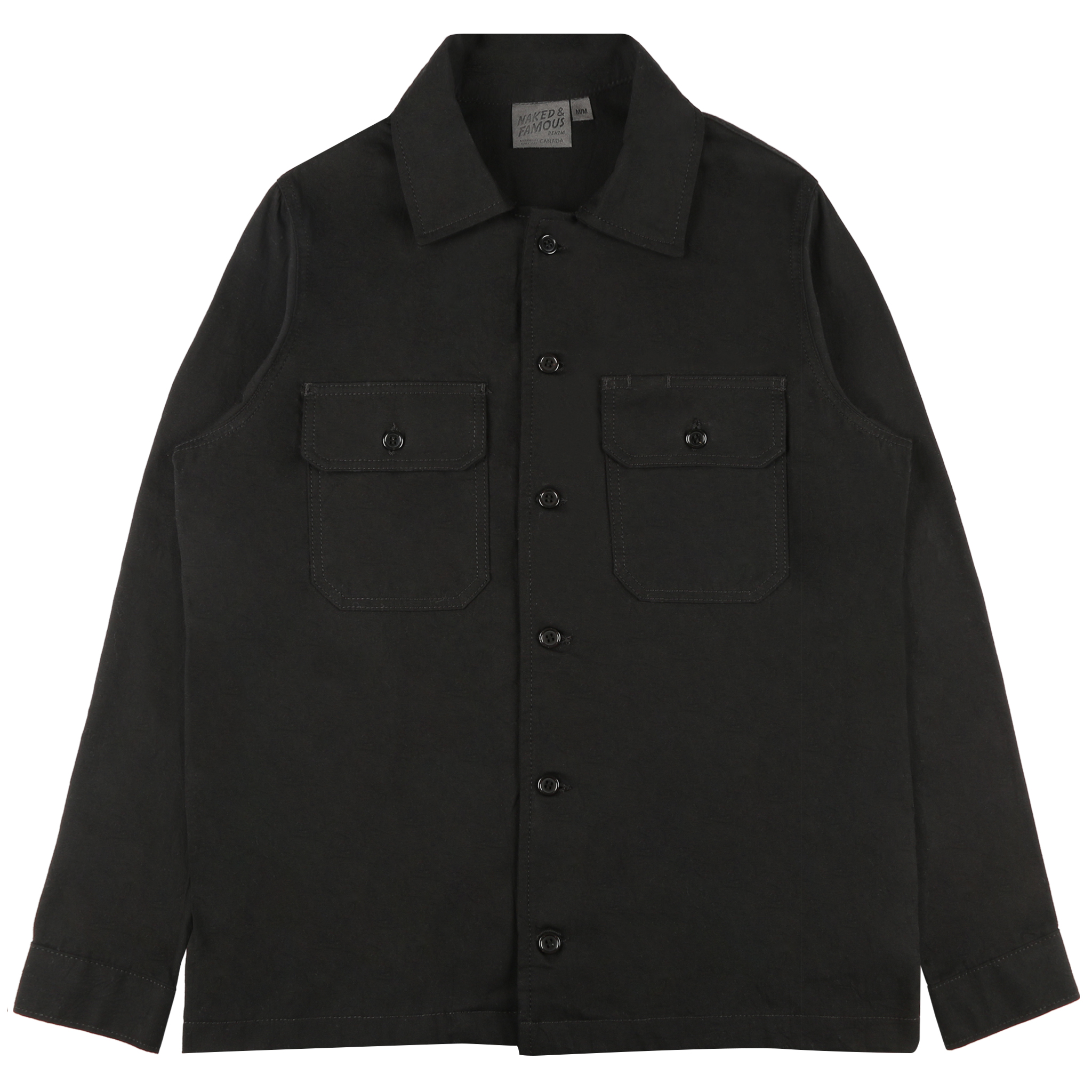 BLACK RINSED OXFORD - Workshirt