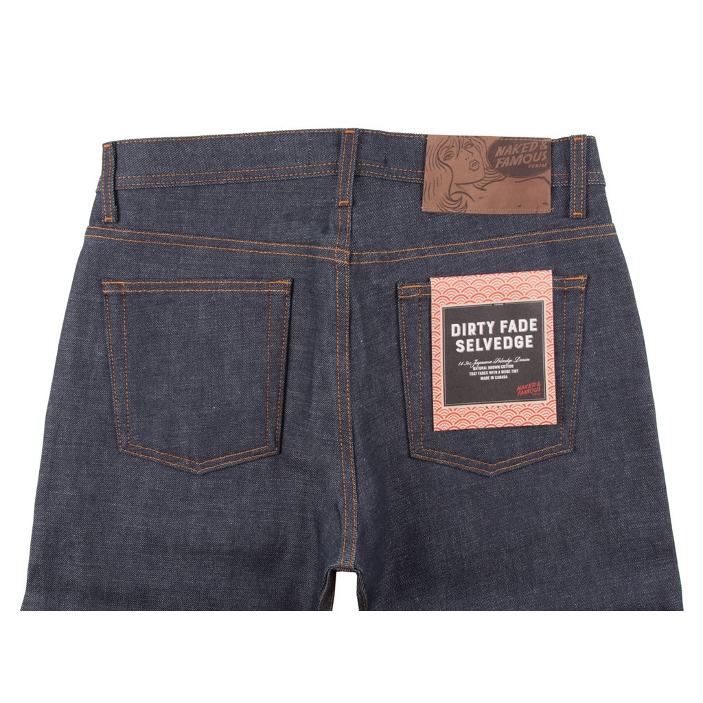 Dirty Fade Selvedge Jeans Back