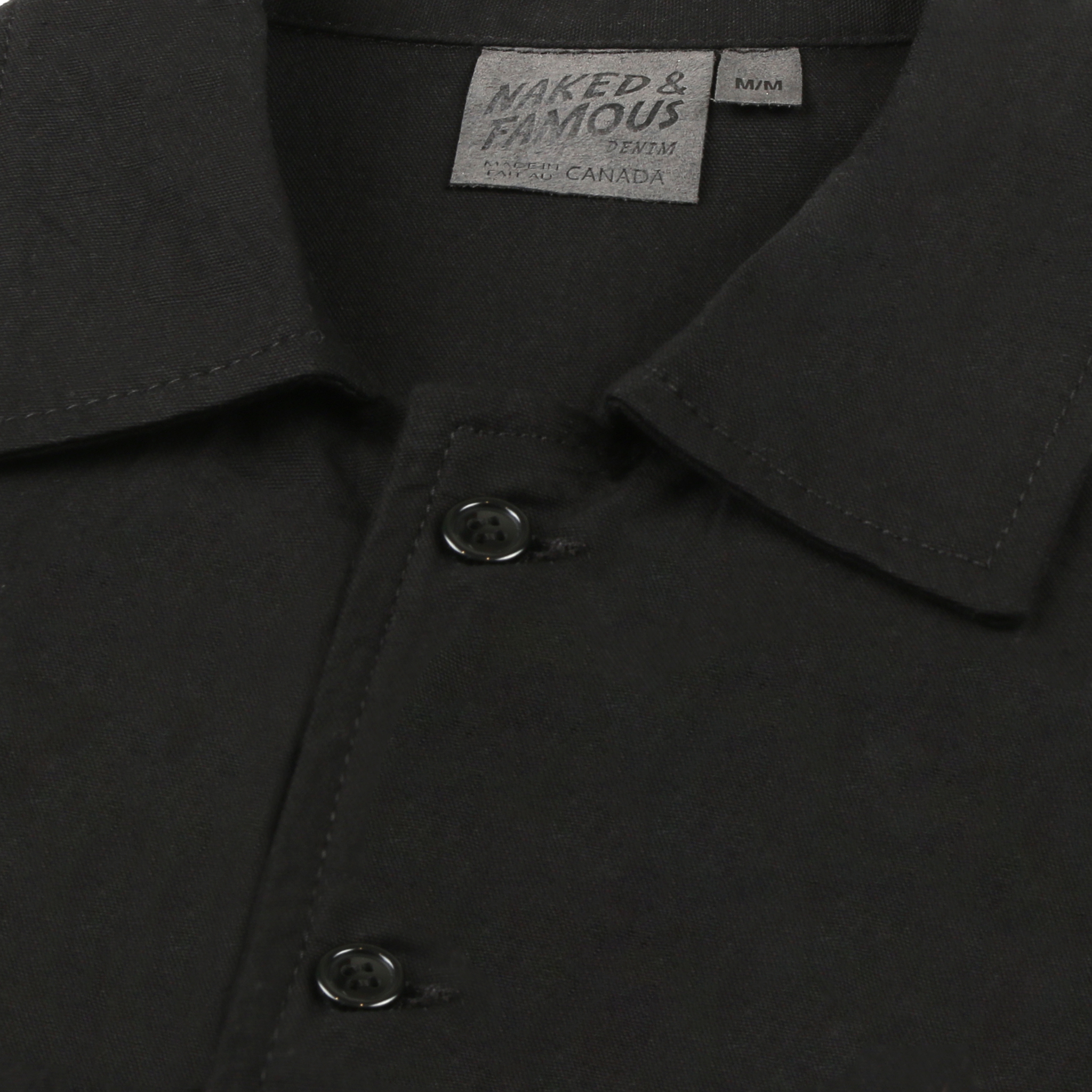 Black Workshirt Collar View