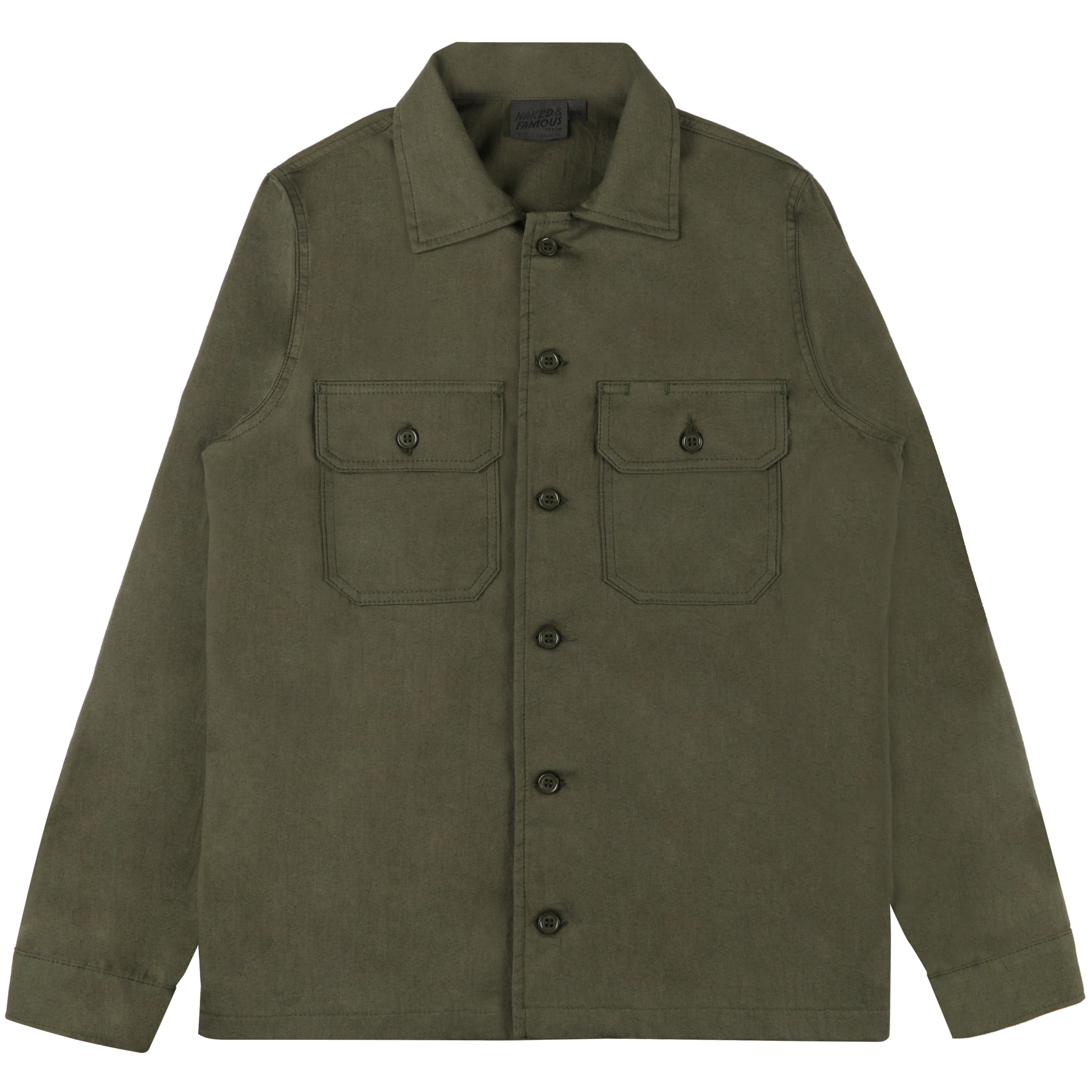 Green Workshirt Flat View