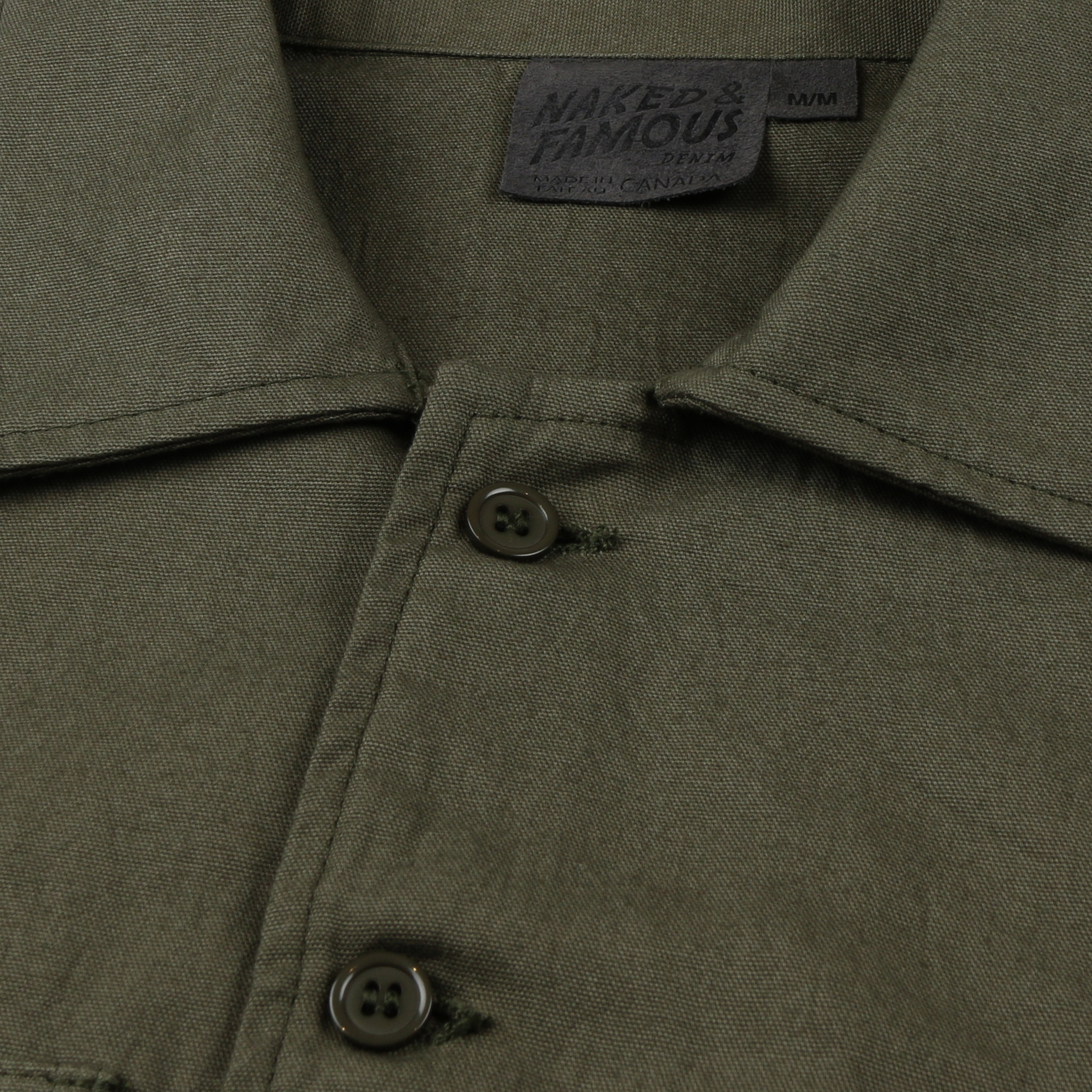 Green Workshirt Collar View