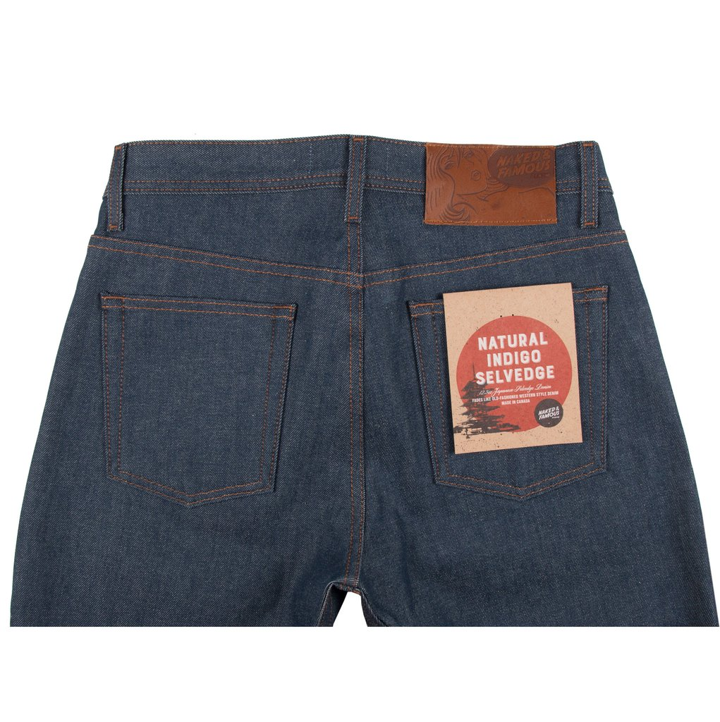 Natural Indigo Selvedge Jeans Back