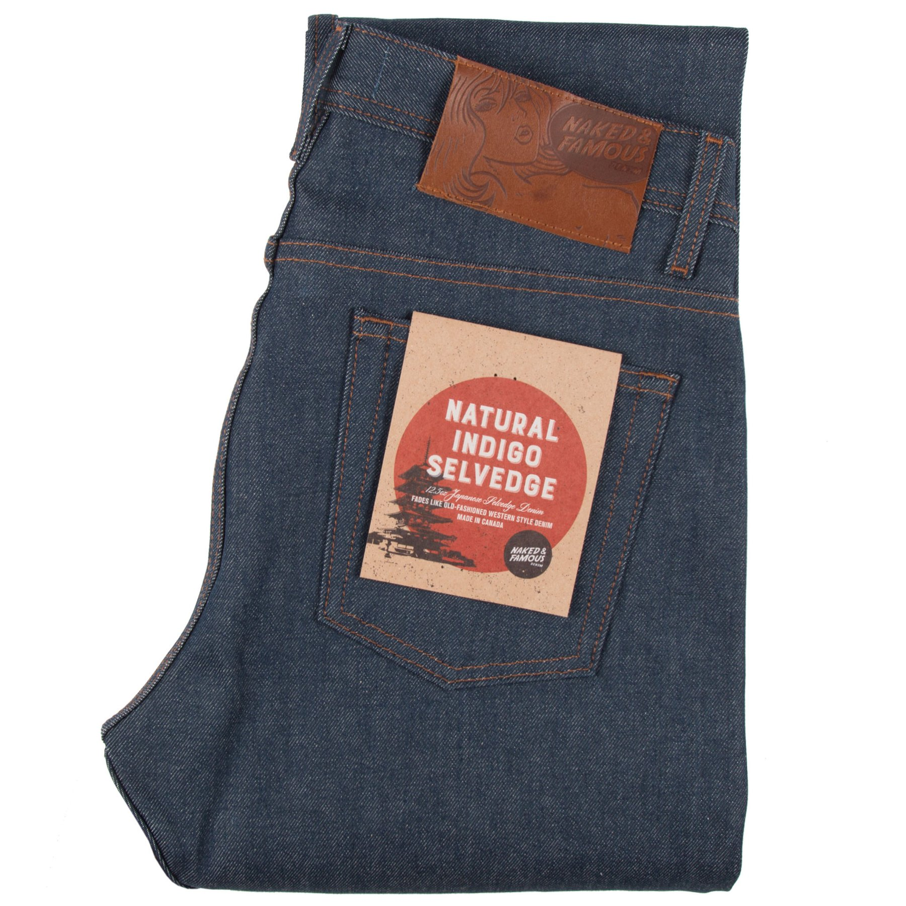 Natural Indigo Selvedge Jeans Folded