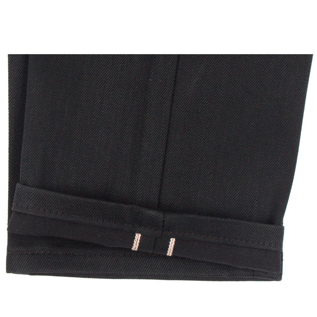 Solid Black Selvedge Jeans hem