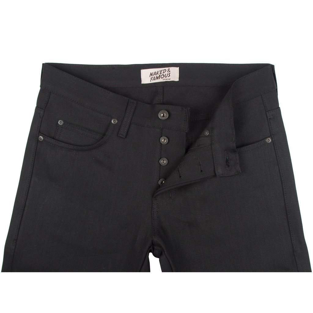 Solid Black Selvedge Jeans front
