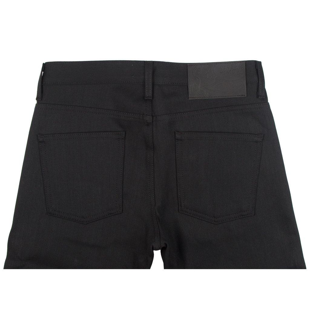 Solid Black Selvedge Jeans Back