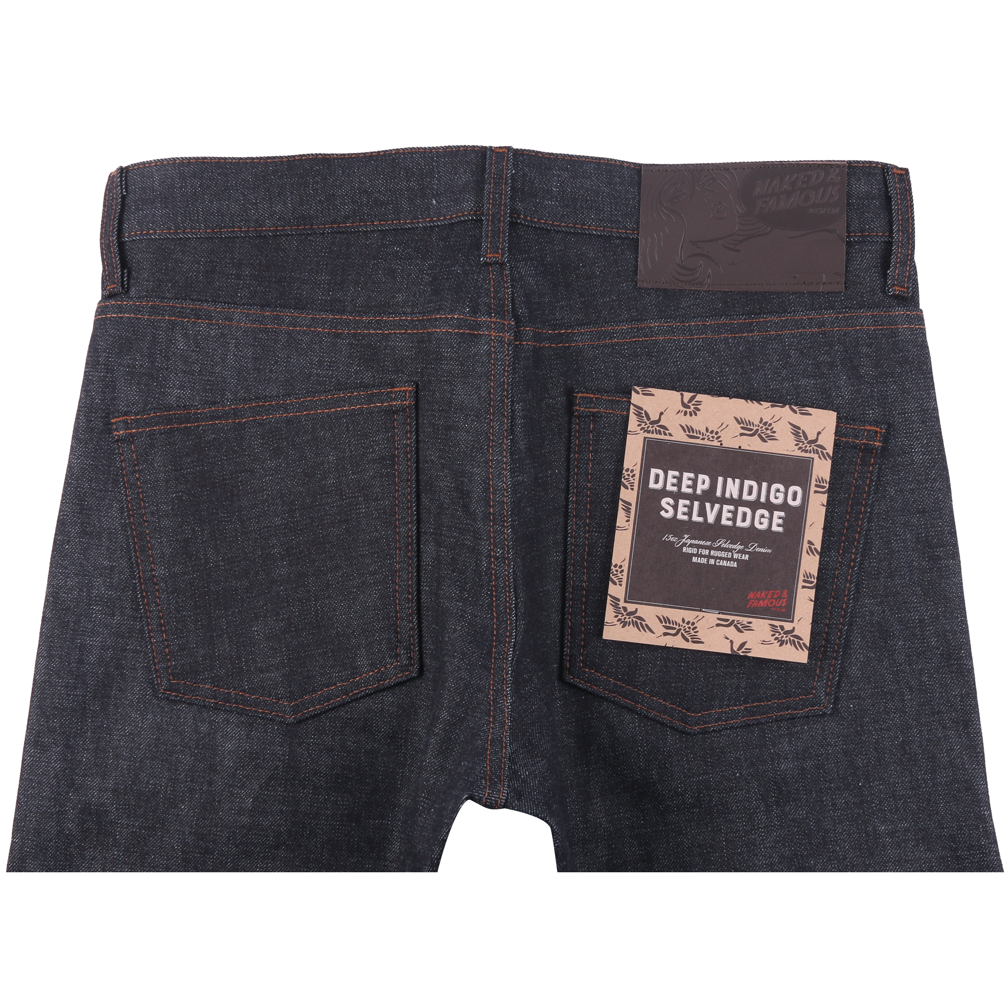 Deep Indigo Rigid Selvedge Jeans back